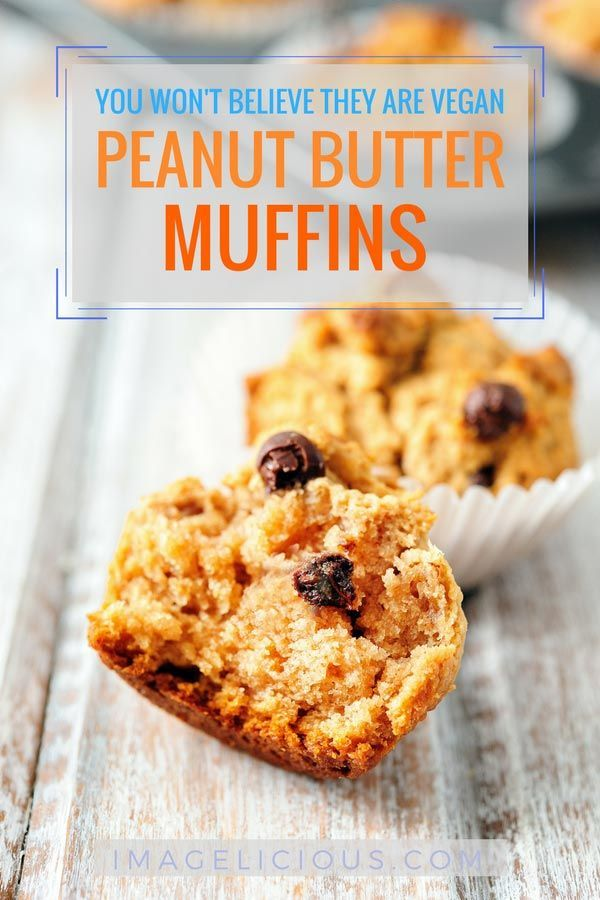 These Vegan Peanut Butter Muffins Are Delicious And You Will Never Guess That They Contain No Eggs Or Bu Peanut Butter Muffins Vegan Peanut Butter Vegan Dishes