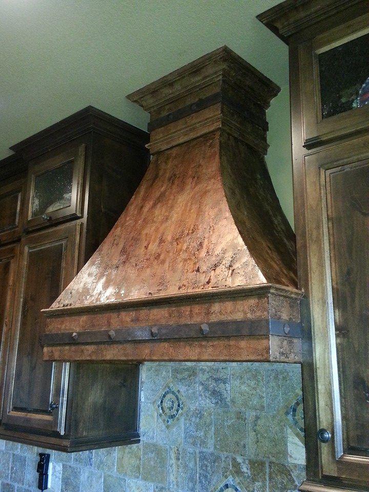 faux copper painted vent a hood - Copper Range Hoods