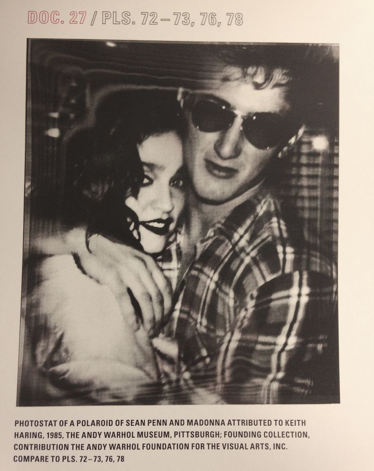 True Blue oh baby Madonna & Sean Penn by Andy Warhol