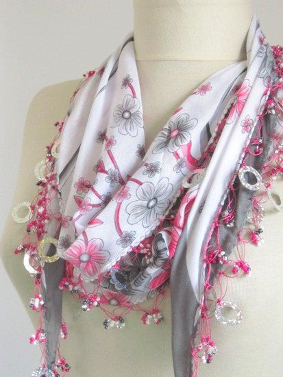 Christmas gift scarfs or scarves turkish scarves  Oya by asuhan, $22.90.