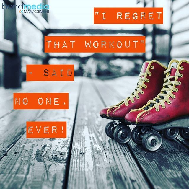 Fitness Quote: I Regret that Workout - Said No One, EVER!  For more......... follow me on Instagram xx