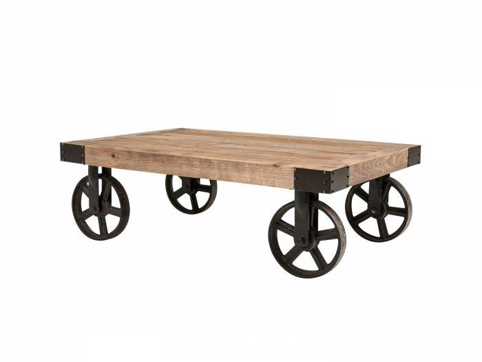 BISON Soffbord 110 Natur/Svart i gruppen Inomhus / Bord / Soffbord hos Furniturebox (100-35-63421)