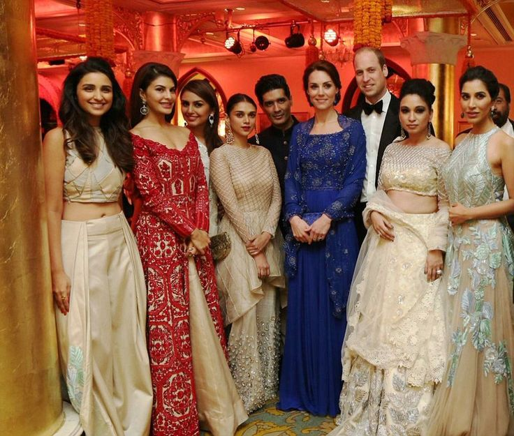 The Prince and Duchess of Cambridge posed with a host of Bollywood stars at the gala, which was raising cash for charities