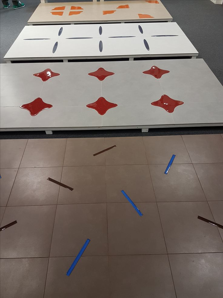 Floor tiles with glass inlays are bound to be the next big thing!