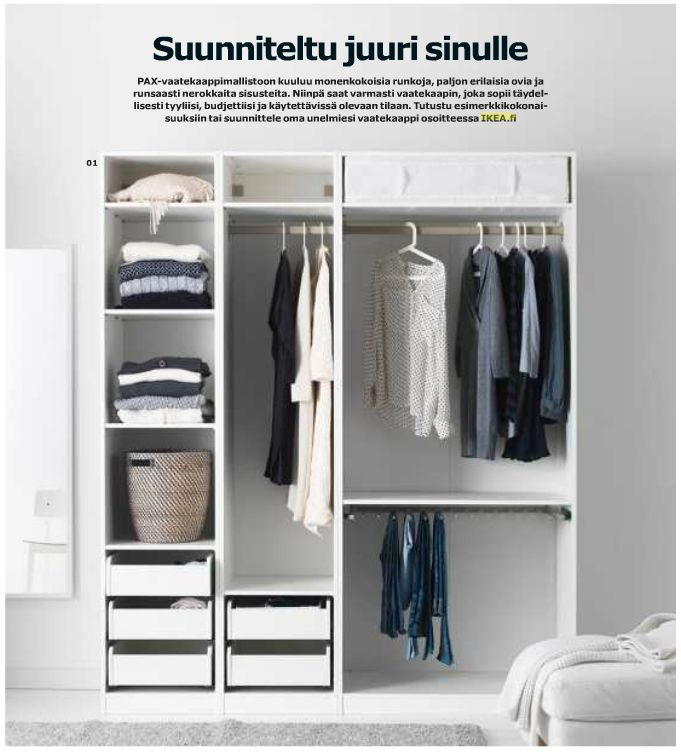 Great idea that you can build your own wardrobe - IKEA