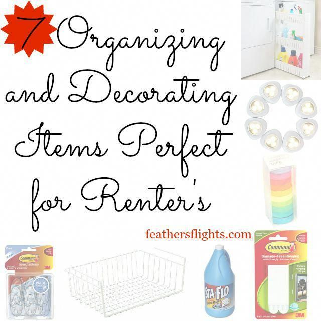 7 Organizing and Decorating Items Perfect for Renters It's so hard to decorate when you are renting! I rented for 10 years and learned a couple of tri…