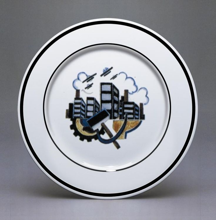 revolution porcelain | PLATE THREE: Composite design 1920-21. Slogan 'Long Live Soviet ...