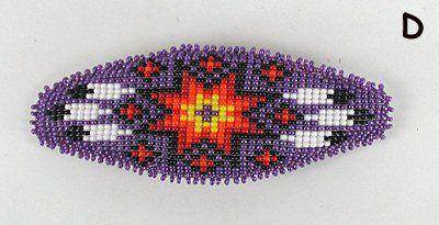 Authentic Lakota Sioux Hand Beaded barrette