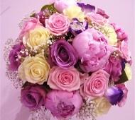 Pink summer wedding bouquet #pink #wedding #flowers