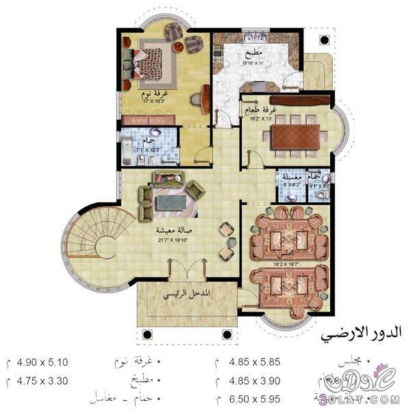 احدث تصاميم الخرائط الحديثة للمنازل صورة الواجهة الارضي والاول House Layout Plans 3d House Plans Architectural Floor Plans