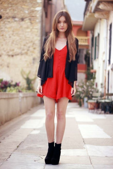 Las 25+ mejores ideas sobre Vestidos De Fiesta De Color Rojo en Pinterest | V cuello vestidos de ...