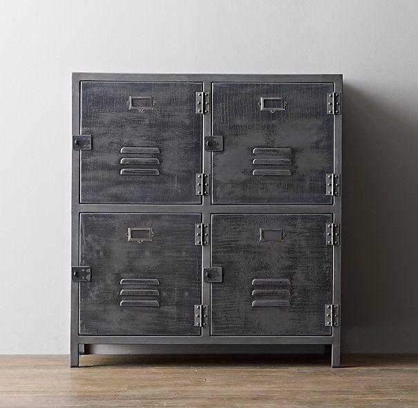 Vintage Locker 4-Door Cabinet