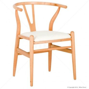 Wishbone Dining Chair - Beech - Buy the Beech Dining Chair and Wishbone Chairs Melbourne from Milan Direct