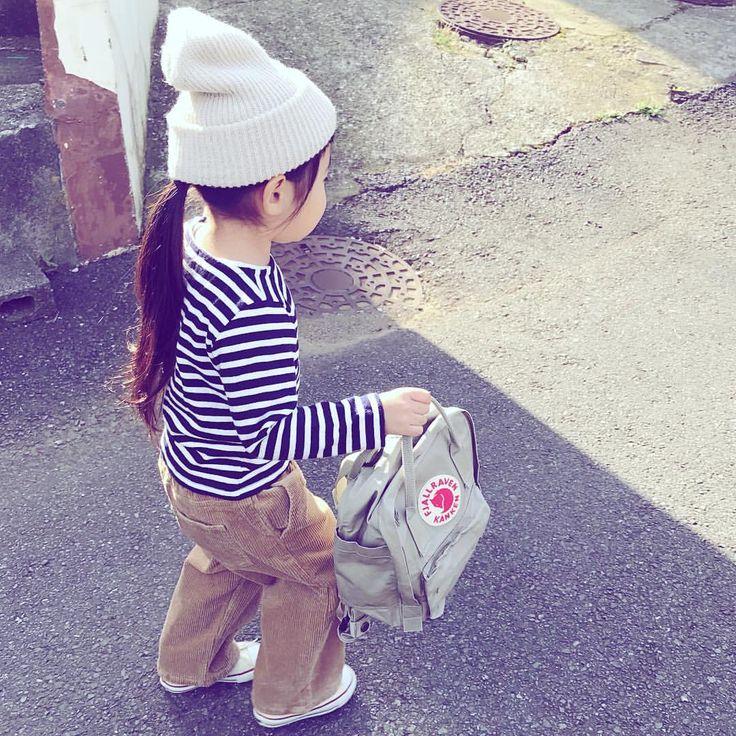 121 個讚,5 則留言 - Instagram 上的 @hanamen:「 * * 娘コーデ記録¨̮♡︎ * 詳細はWEARにて✩︎⡱ * #ニット帽 #ボーダー #コーデュロイパンツ #ワイドパンツ #コンバース #converse #リュック #カンケン… 」
