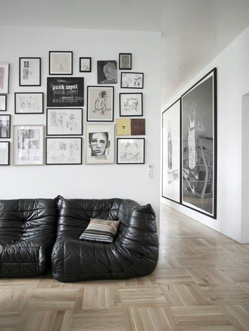 can i have that squashy couch in brown leather please. the more weathered the better. thanks