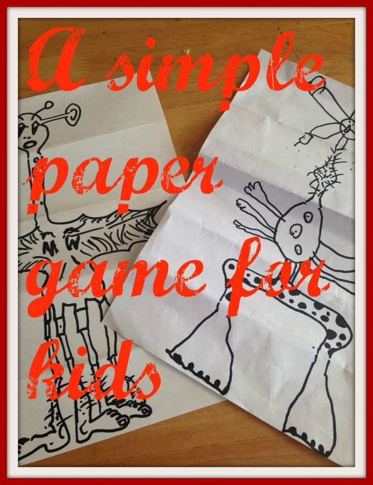 A very simple, great fun paper game for kids. Retro games that need nothing more than a pen and paper and a childs imagination. Play on a budget.