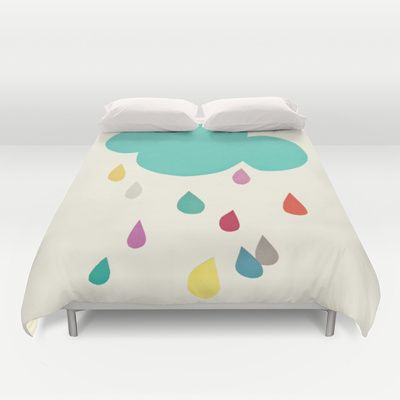 Sunshine and Showers Duvet Cover by Cassia Beck - $99.00