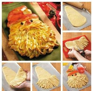 Santa bread for Christmas