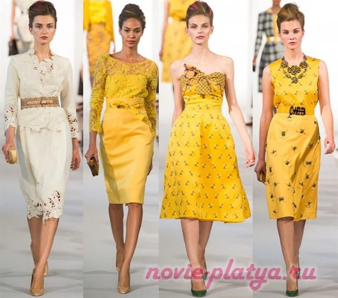 Платье кружево желтое