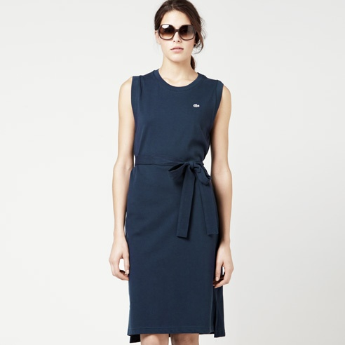 lacoste belted sleeveless dressSleeveless Dresses, Belts Sleeveless, Lacoste Belts
