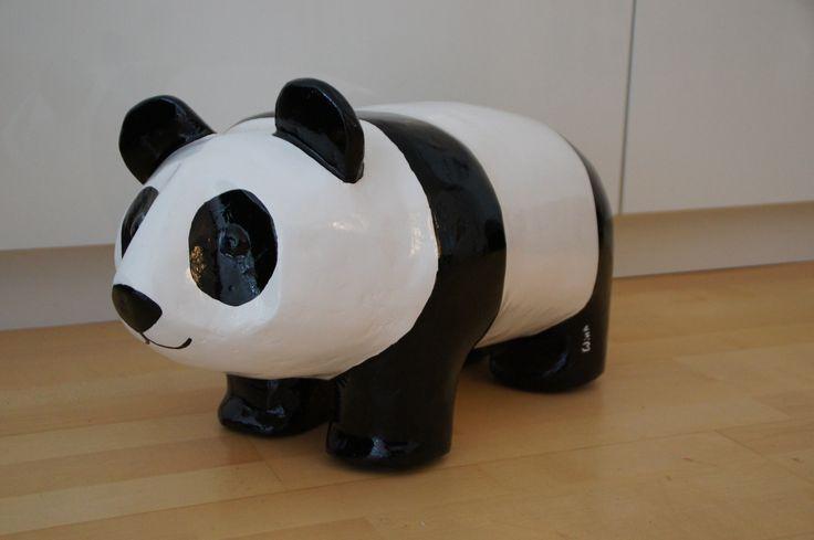 Paper mache. Panda.