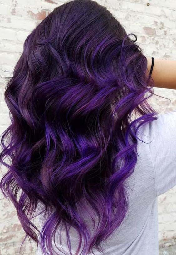 40 Awesome Dark Purple Hair Color Ideas for 2018 | SERIOUS ...