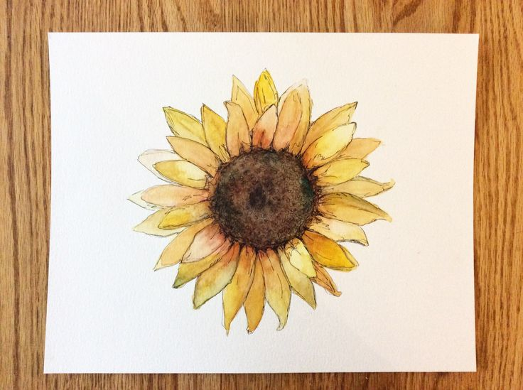 Sun flower watercolour! Stay tuned for NEW prints available in our SpeakGlitter.comstore this summer!