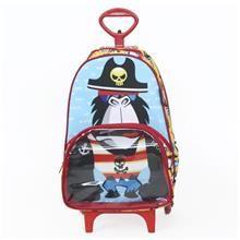Uma mochila com rodinhas linda e descolada. A Mochila Macaco Pirata com Rodinha é diferente e perfeita para a criançada que é cheia de atitude.
