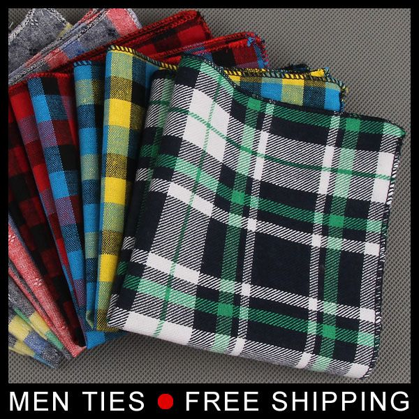 >> Click to Buy << 2017 New arrival Men Plaid Pocket Hanky Pocket Square Hanky Dress suit Handkerchiefs Cotton Male formal Handkerchief  #Affiliate