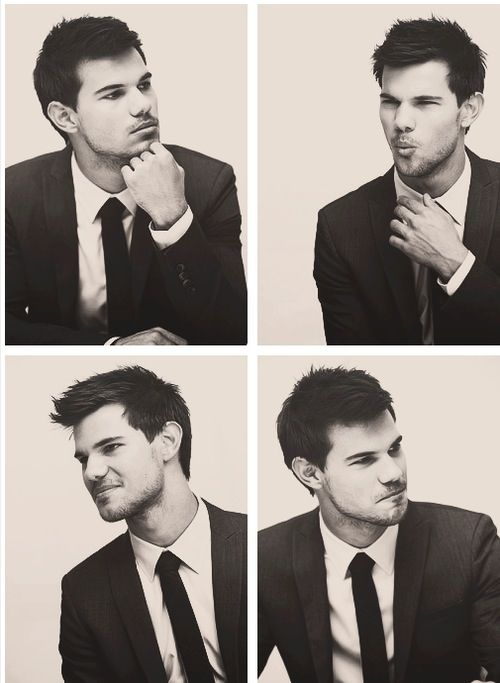 Taylor Lautner in a suit .. Nothing better well yes there is .. Shirtless .