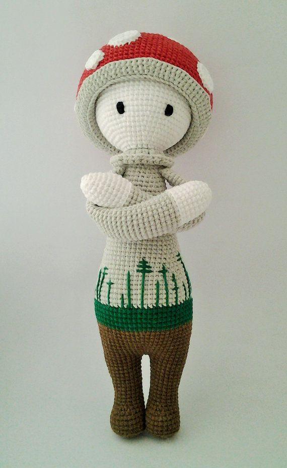 Lalylala Paul the Toadstool Handmade Crochet by ElaMakrelaCrochet
