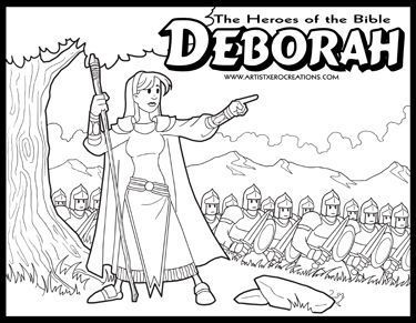 The Heroes Of Bible Coloring Pages Deborah Judges 4 5