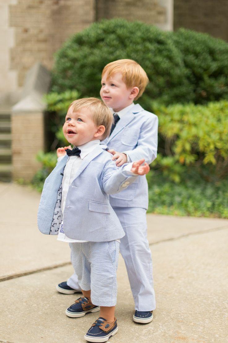 Ring Bearer Seersucker Suit and Bow Tie