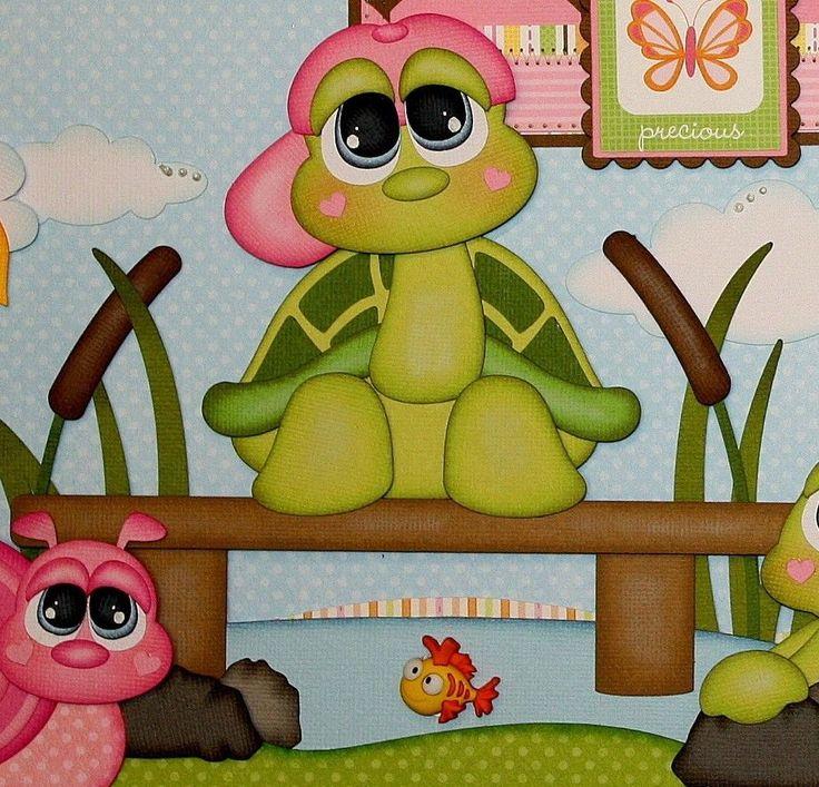 ELITE4U PMBY JULIE CHILD premade scrapbook layout pages 4 album paper piecing