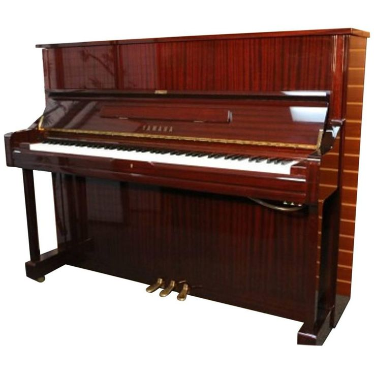 "Yamaha U1 Gloss ""Sapele"" Mahogany Upright Piano, Pristine Condition 
