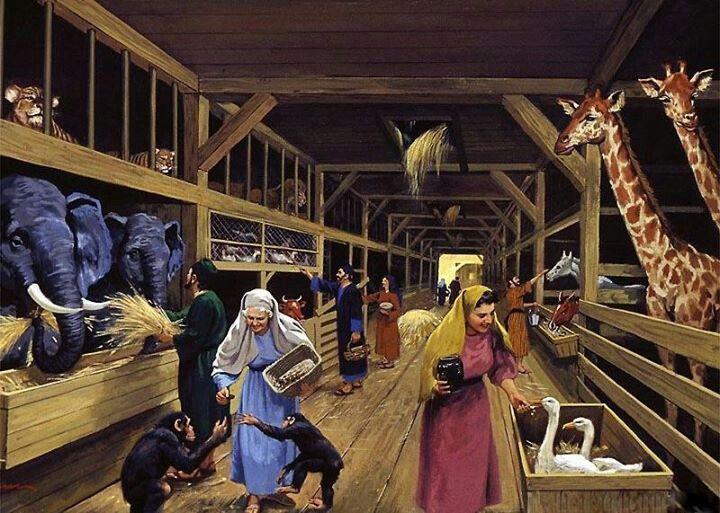 inside Noah's Ark - the animals