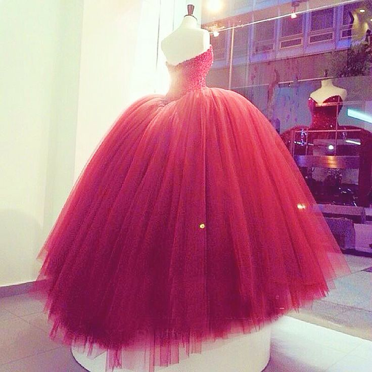 Red ball gown for debut or JS Prom