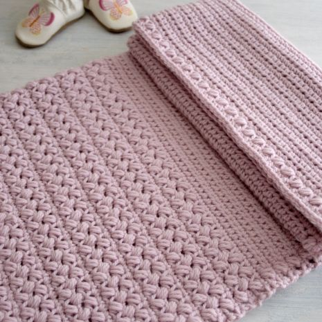 Baby Blanket Pattern - Brymmlette. PDF Crochet Pattern available at Hidden Meadow Crochet.