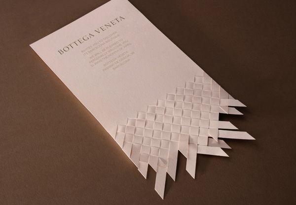 Bottega Veneta weaved invitation