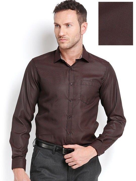 Mark taylor men black & red slim fit semiformal shirt