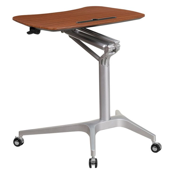 Flash Furniture 28W Mobile Computer Cart - Mahogany - NAN-IP-10-GG