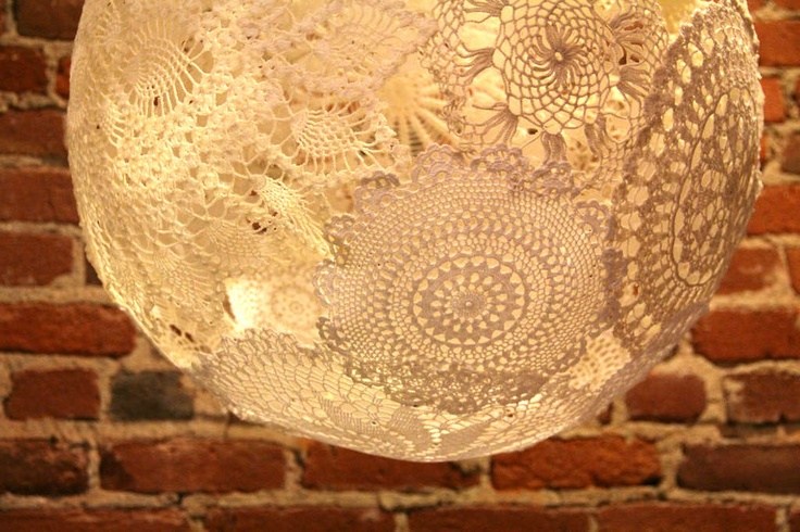 main doily lamp instructable