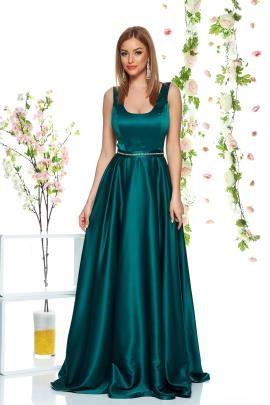 Rochie de seara lunga verde cu spate gol