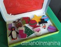 Decorazioni di feltro per albero di Natale gioco - DIY felt decoration for a children's christmas tree