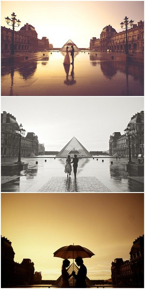Rain doesn't have to spoil a photo shoot in Paris