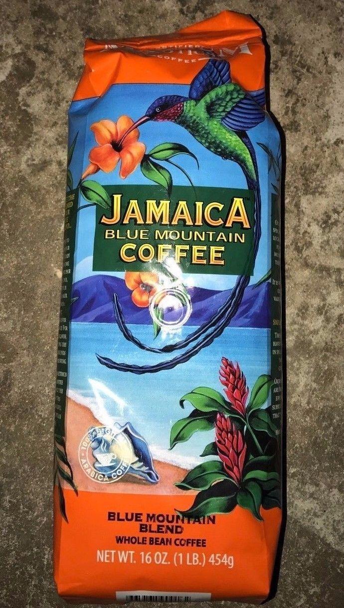 1 Magnum Jamaican Blue Mountain Blend Coffee Cafe Whole Bean 1 Lb Bags 16oz