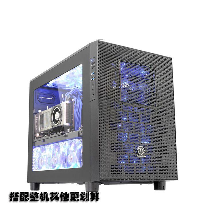 Core X2 horizontale watergekoelde module M-ATX gaming chassis transparante belangrijkste computer chassis
