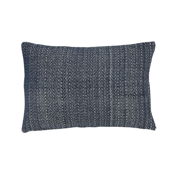 Dark blue woven cotton cushion with stuffing. Product number: 500106 - Designed by Hübsch