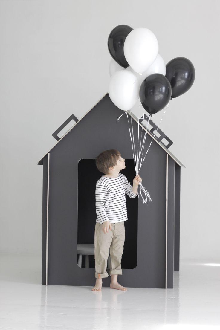 Design by Minna: playhouse: Minna Playhouses, Kids Style, Modern Kids, Little Houses, Cardboard Playhouses, Grey Houses, Small Houses, Playhouses Kids, Kids Design