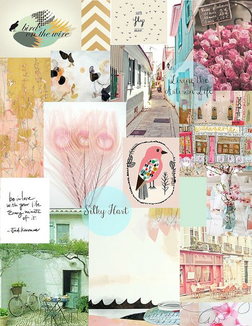 #blogboss moodboard project for decor8eclasses.com  Dream Blog Mood Board by SilkyHart, via Flickr